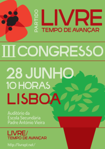 Cartaz do III Congresso do LIVRE