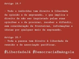 Por uma Angola livre, liberdade já!