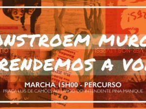 """Marcha """"Constroem Muros, Aprendemos a Voar"""" – Lisboa – 11 março"""