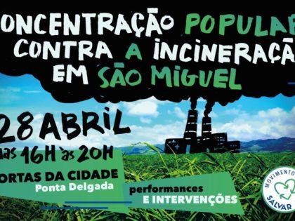 Concentração contra a incineração – Ponta Delgada – 28 abril