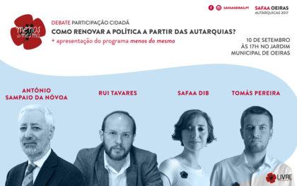 Debate + Apresentação do programa Menos do Mesmo – 10 setembro – Jardim Municipal de Oeiras