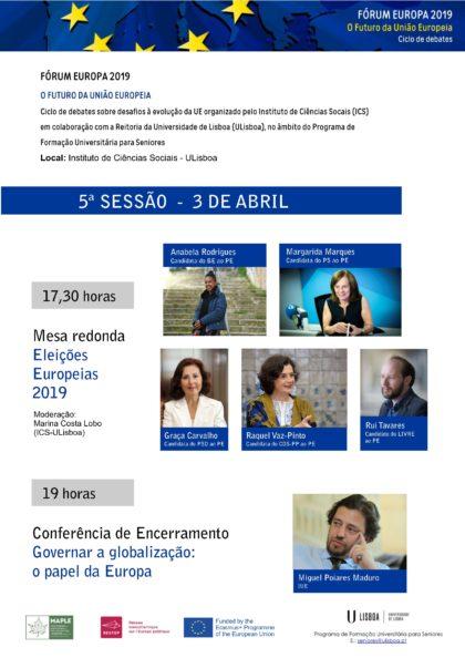 3 abril: Mesa Redonda Eleições Europeias (ICS-ULisboa)