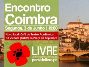 3 junho: Encontro de Membros e Apoiantes, Coimbra
