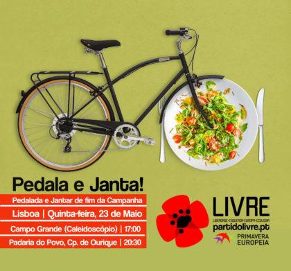 23 maio: Pedalada e jantar de encerramento da campanha, Lisboa