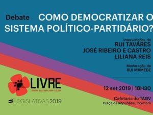 12 setembro – Coimbra: Como democratizar o sistema político-partidário?