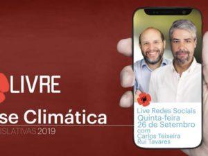 26 setembro – Livre Redes Sociais: Crise Climática