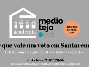 27 setembro – Santarém: Debate com todos os partidos