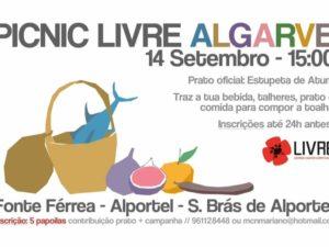 14 setembro – Alportel: Picnic LIVRE Algarve