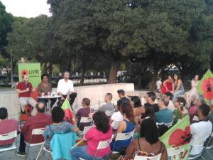 Dezenas de pessoas no lançamento da campanha do LIVRE em Lisboa