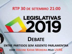 30 setembro – Debate na RTP com Joacine Katar Moreira