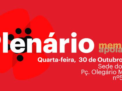 30 outubro – Lisboa: Plenário de Membros e Apoiantes