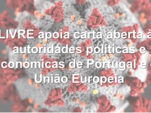 LIVRE apoia carta aberta às autoridades políticas e económicas de Portugal e da União Europeia