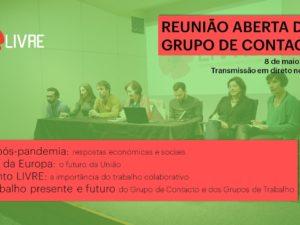 Comunicado da Reunião Aberta do Grupo de Contacto do LIVRE