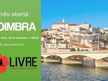 28 setembro – Reunião aberta Núcleo Territorial de Coimbra