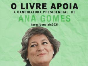 LIVRE apoia Ana Gomes nas eleições presidenciais