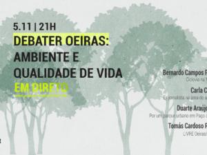 """5 novembro – """"Debater Oeiras: Ambiente e Qualidade de Vida"""""""