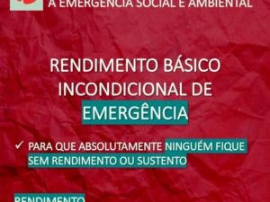 OE2021: LIVRE defende RBI de Emergência como resposta solidária e eficaz