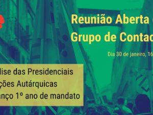 30 janeiro – Reunião Aberta do Grupo de Contacto