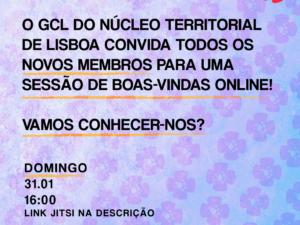 31 janeiro – Reunião Núcleo Territorial de Lisboa