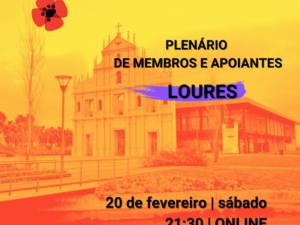 20 fevereiro – Plenário de Membros e Apoiantes de Loures