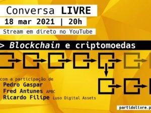 18 março – Conversa LIVRE: Blockchain e Criptomoedas