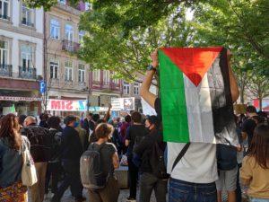 LIVRE nos protestos de Solidariedade com a Palestina