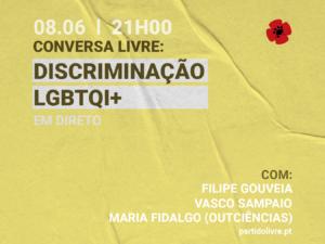 8 junho – Conversa LIVRE: Discriminação LGBTQI+