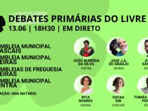 13 junho – Debate Primárias do LIVRE: Assembleias Municipais Cascais, Oeiras, Sintra e Assembleias de Freguesia de Oeiras