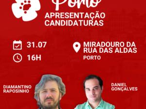 31 de julho – Apresentação Candidaturas ao Porto