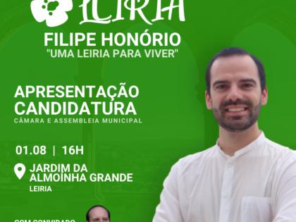 1 de agosto – Apresentação Candidatura Câmara e Assembleia Municipal de Leiria
