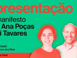 18 setembro – Apresentação Manifesto da Candidatura de V.N. Gaia